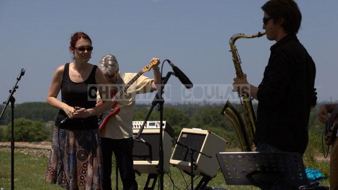 Elodie Hurtaud, Jean-Luc Peon, Gaël Lafleuriel; Mil&Zim Jazz, Festival JAZZ360 2014, Quinsac. 08/06/2014