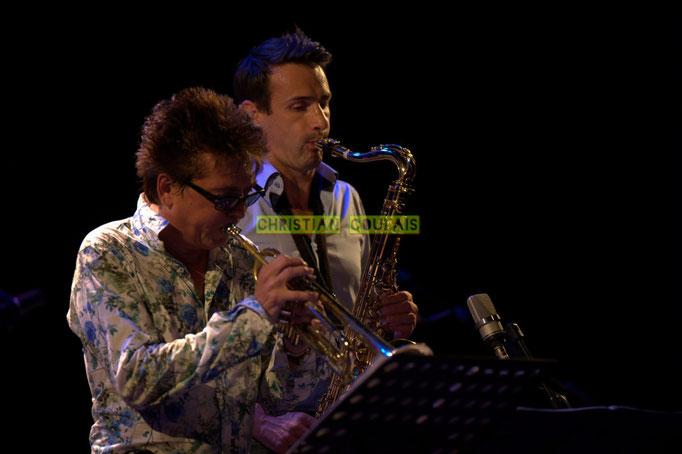 Festival JAZZ360 2014, Freddy Buzon, Thomas Lachaize; Asix Quintet, Cénac. 06/06/2014