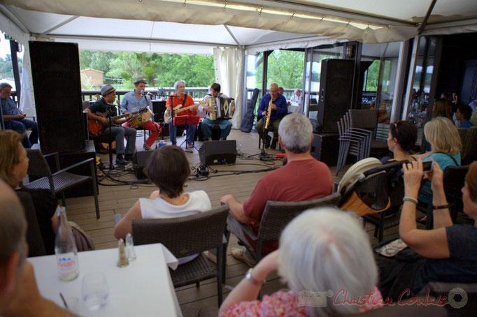Festival JAZZ360 2015, Peuple Etincelle / François Corneloup, Maison du Fleuve, Camblanes-et-Meynac. 13 juin 2015