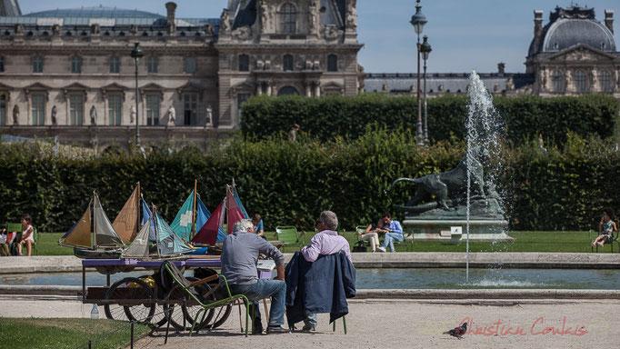 Petit bassin rond des Jardins Réservés, Jardin des Tuileries, Paris 1er