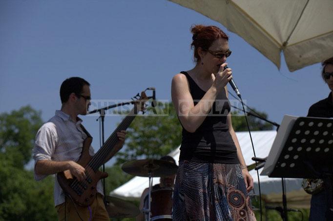 Julien Paoletti, Elodie Hurtaud; Mil&Zim Jazz, Festival JAZZ360 2014, Quinsac. 08/06/2014