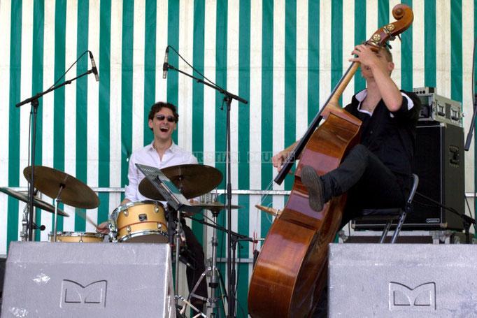 Festival JAZZ360 2014, Germain Cornet, Julien Daude; Thomas Mayeras Trio, Cénac. 07/06/2014