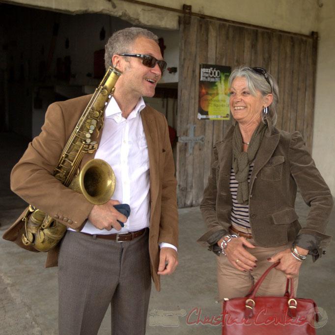 Alex Golino et Simone Ferrer, Maire de Cénac