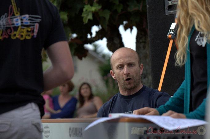 Rémi Poymiro, directeur du Big Band du Collège de Monségur. Festival JAZZ360 2015, Cénac, 12/06/2015