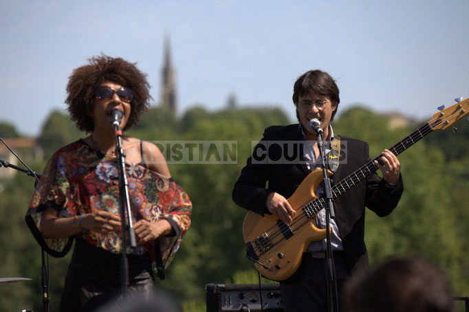 Mayomi Moreno, Benjamin Pellier; Akoda Quintet, Festival JAZZ360 2014, Quinsac. 08/06/2014