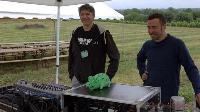 Festival JAZZ360 2015, Pablo Jaraute, Alexandre Andujar techniciens son. Château Lestange, Quinsac. 14/06/2015