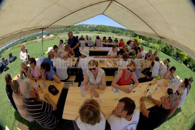 """""""Après repas"""" Festival JAZZ360 2014, Mil&Zim Jazz, château Lestange, Quinsac. 08/06/2014"""