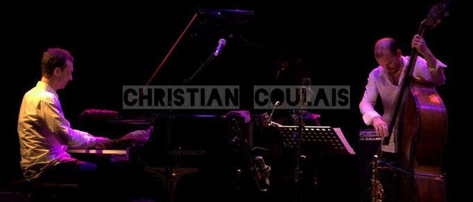 Pierre de Bethmann, Sylvain Romano; Baptiste Herbin Quartet feat André Ceccarelli, Festival JAZZ360 2014, Cénac. 07/06/2014