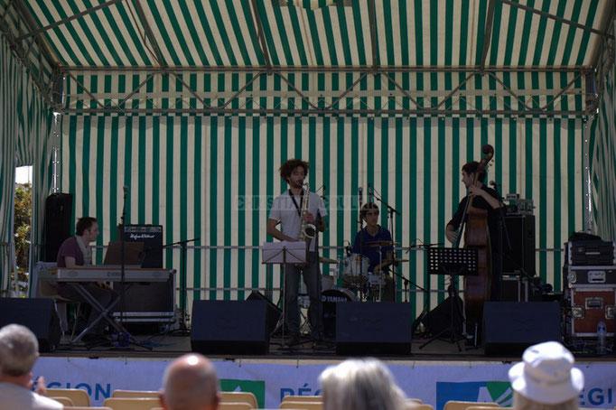 Festival JAZZ360 2014, Vincent Vilnet, Brice Matha, Pierre Lucbert, Gabriel Pierre; Delbosque Band. Cénac, 07/06/2014