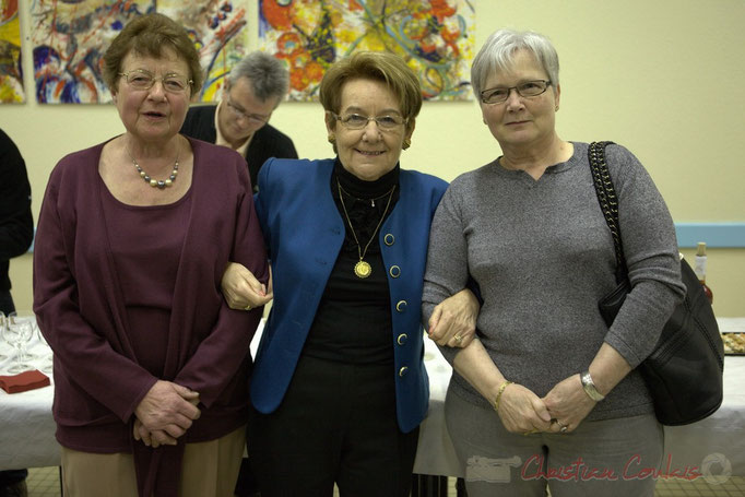 Michèle Boutant et ses deux secrétaires de mairie