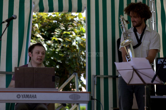 Festival JAZZ360 2014, Vincent Vilnet, Brice Matha; Delbosque Band. Cénac, 07/06/2014