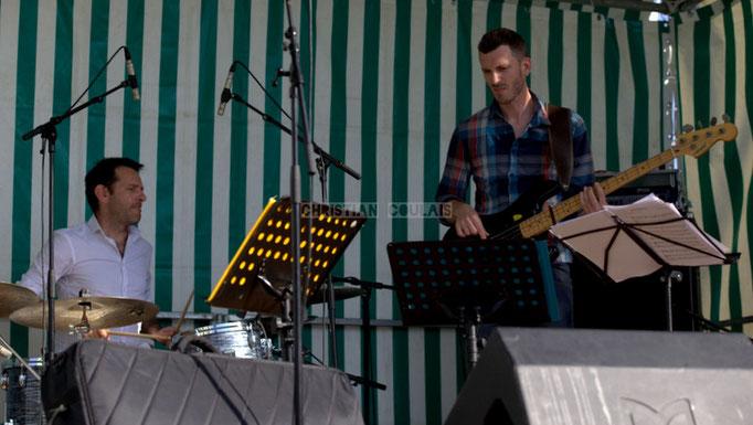 Festival JAZZ360 2014, Didier Ottaviani, Benoît Lugué; EBop Quartet, Cénac. 07/06/2014