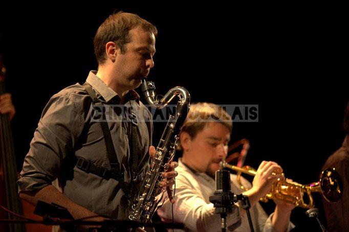 Festival JAZZ360 2014, Pierre Horckmans; Anne Quillier Sextet, Cénac. 07/06/2014