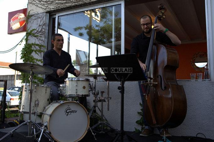 José Vicente Da Silva, Aurélien Gody; Soundscape Trio, Festival JAZZ360 2014, Cénac. 07/06/2014