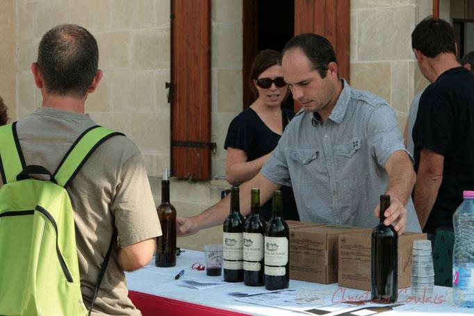 Jean-Benoît Subra, futur gestionnaire du château du Garde. Festival JAZZ360 2011, Cénac. 05/06/2011