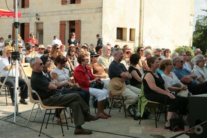 Une belle après-midi pour écouter un concert gratuit, en extérieur. Festival JAZZ360, château du Garde, Cénac. 05/06/2011