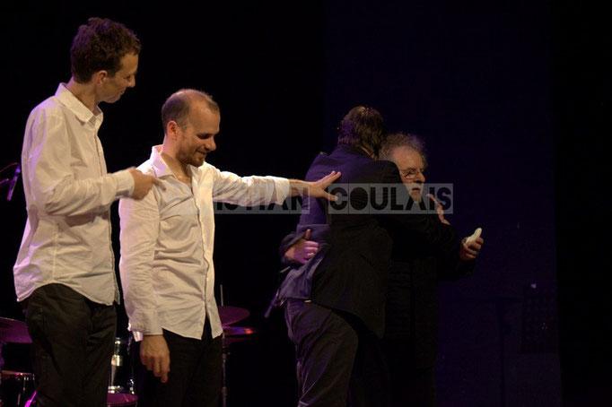 Pierre de Bethmann, Sylvain Romano, Baptiste Herbin, André Ceccarelli; Baptiste Herbin Quartet, Festival JAZZ360 2014, Cénac. 07/06/2014