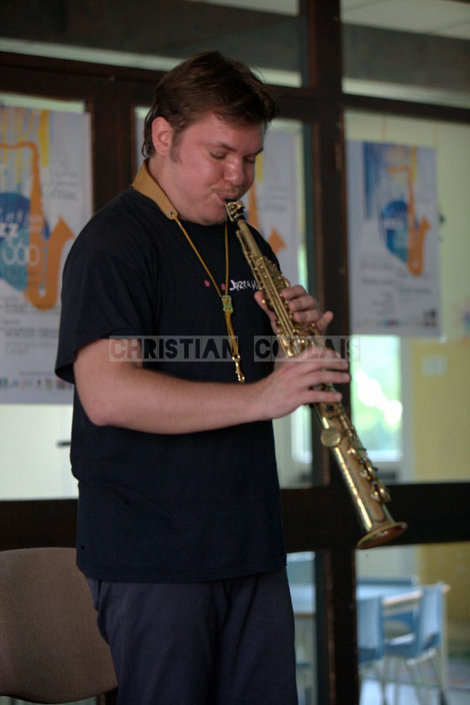 Clarinette. Rencontre musicale avec Baptiste Herbin, Festival JAZZ360 2014, Cénac. 07/06/2014
