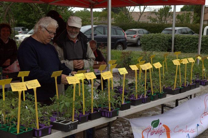 Christian Bouzat, membre de Jardins de tomates et Robert Mensencal, tous deux cénacais
