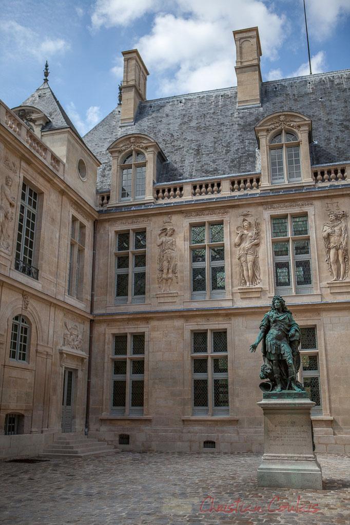 Cour Louix XIV, Musée Canavalet, Paris 3ème arrondissement