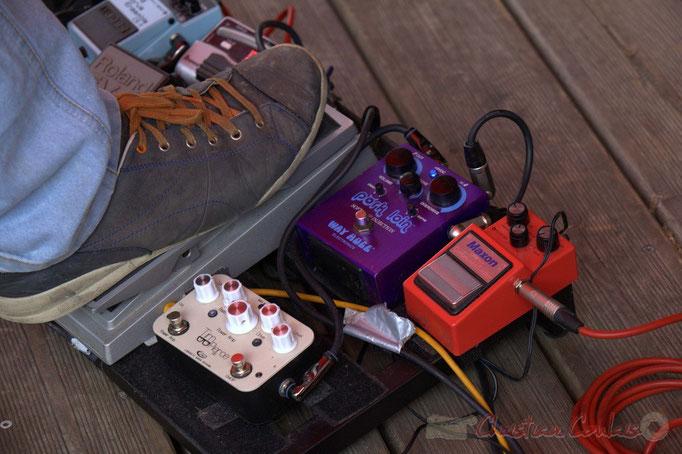 Festival JAZZ360 2015, pédales d'effets de Pierre Génin, Cénac. 13 juin 2015