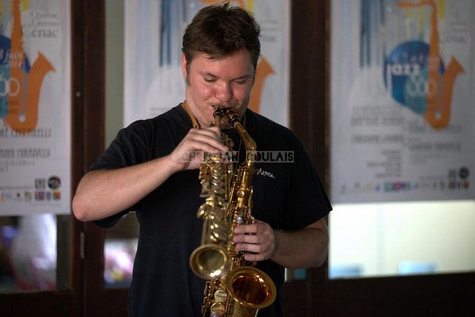 Clarinette & Saxophone alto. Rencontre musicale avec Baptiste Herbin, Festival JAZZ360 2014, Cénac. 07/06/2014