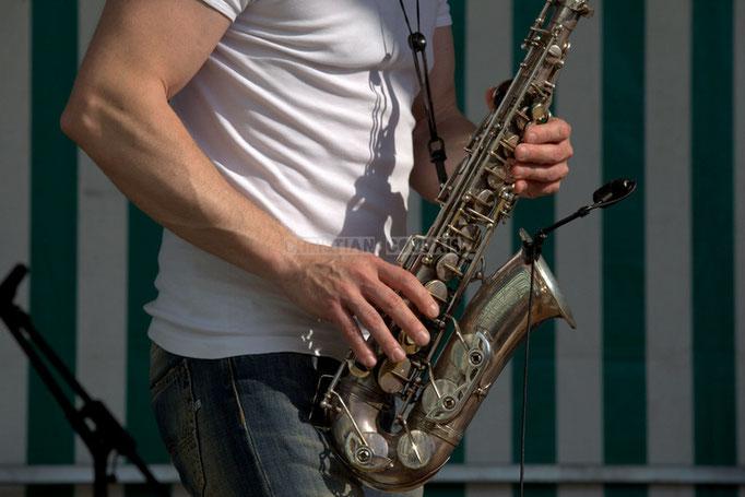 Festival JAZZ360 2014, saxophone de Guillaume Schmidt; EBop Quartet, Cénac. 07/06/2014