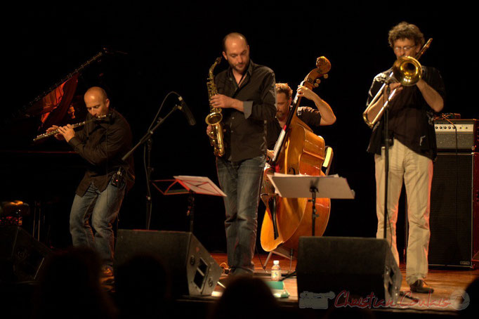 Remi Poymiro, Mathieu Saint-Laurent, François Mary, Slobodan Sokolovic; Slobodan Sokolovic Sextet. Festival JAZZ360 2012, Cénac. 08/06/2012
