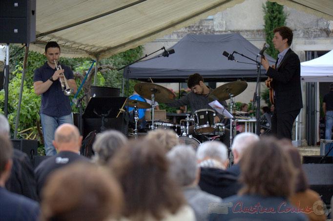 Festival JAZZ360 2015, Olivier Gay, Thomas Peyron, Thomas Boudé; Isotope Trio, Quinsac. 14/06/2015