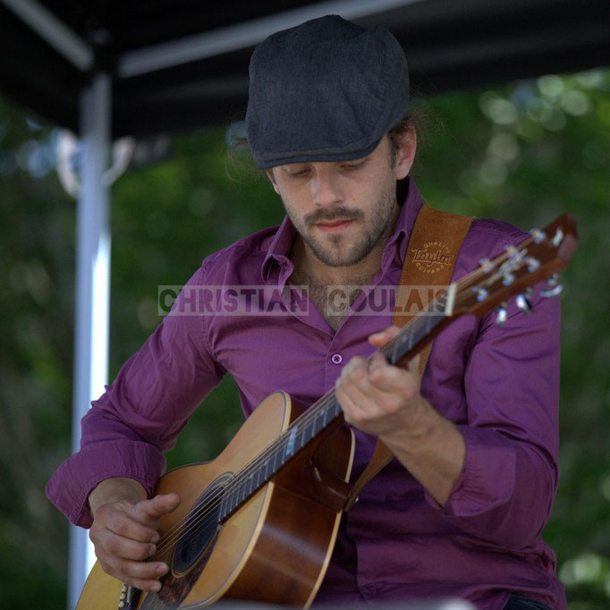Baptiste Duperron; Cadijo vagabond blues project, Festival JAZZ360 2014, Latresne. 08/06/2014
