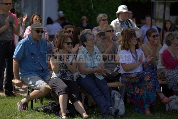 Un public intergénérationnel est venu découvir Akoda Quintet, Festival JAZZ360 2014, Quinsac. 08/06/2014