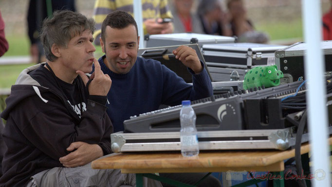 Festival JAZZ360 2015, Pablo Jaraute, Alexandre Andujar techniciens son, Quinsac. 14/06/2015
