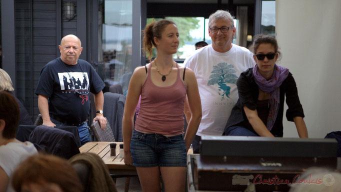 Alain Piarou, Président d'Action Jazz, Richard Raducanu, Président de JAZZ360, Marie Croc, Charlotte Léric techniciennes son. 13 juin 2015