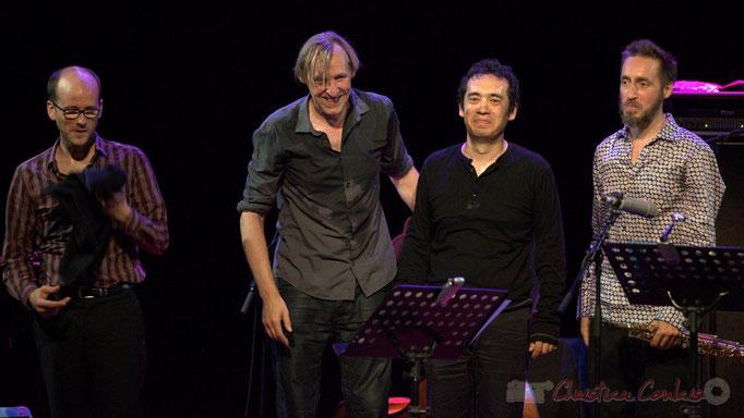 Festival JAZZ360 2015, Pierre Perchaud, Jean-Claude Oleksiak, Antoine Paganotti, Christophe Panzani; Jean-Claude Oleksiak Quartet, Cénac. 13/06/2015