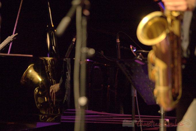 """Reflet piano-saxo"" Frédéric Borey ""Lines"" Quartet, Festival JAZZ360 2012, Cénac. 08/06/2012"