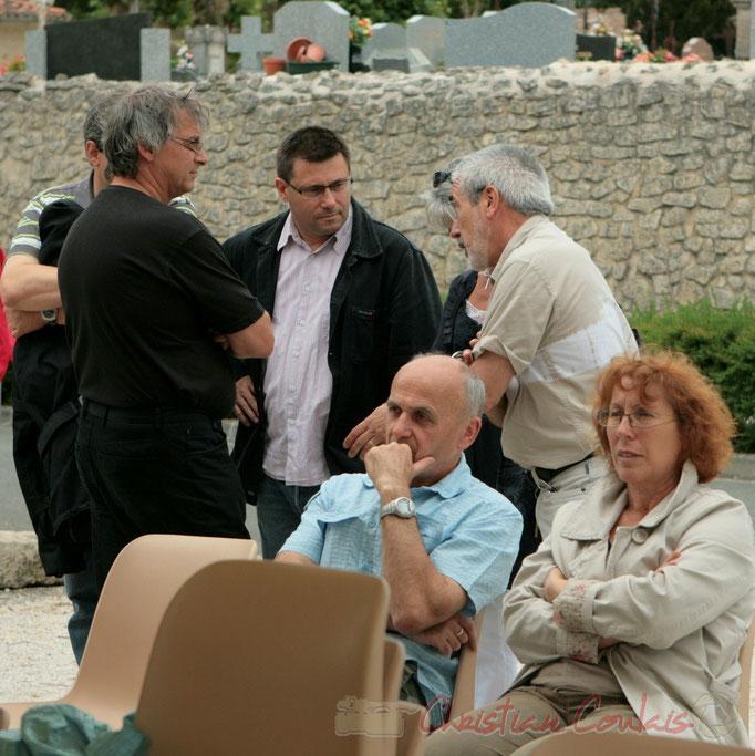 Les élus papotent entre eux. Ateliers Jazz de l'I.R.E.M., Institut Régional d'Expressions Musicales, Festival JAZZ360, Cénac, 04/06/2011