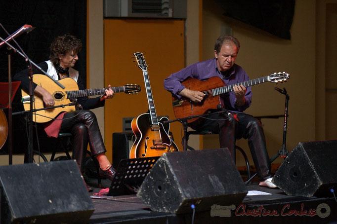 Bernadette et Jean-Michel Bourdier; Django Phil, Festival JAZZ360 2013, Latresne. 09/06/2013