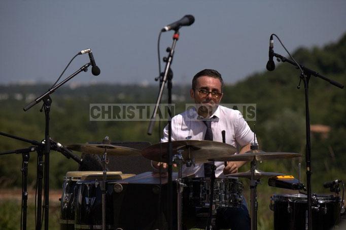 Franck Leymeregie; Akoda Quintet, Festival JAZZ360 2014, Quinsac. 08/06/2014