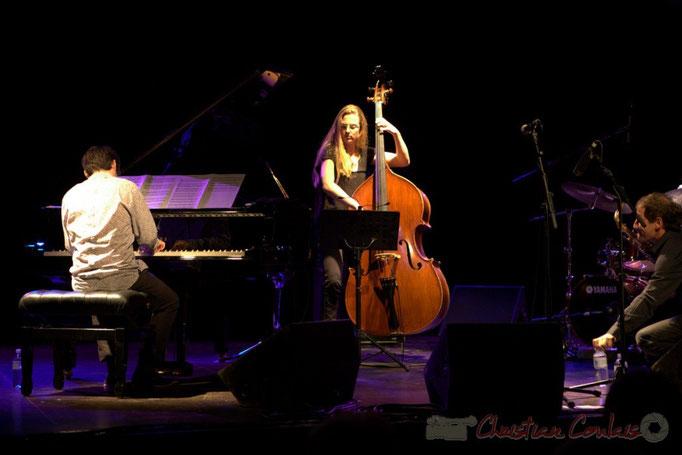"""Paul Lay, Nolwenn Leizour, Frédéric Borey; Frédéric Borey """"Lines"""" Quartet, Festival JAZZ360 2012, Cénac. 08/06/2012"""