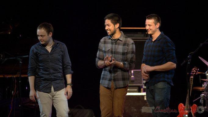 Festival JAZZ360 2015, Atrisma; Hugo Raducanu, Johary Rakotondramasy, Vincent Vilnet. Cénac, 12/06/2015