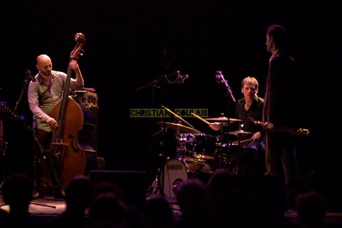 Festival JAZZ360 2014, Mauro Gargano, Louis Moutin, Christophe Laborde; Christophe Laborde Quartet feat Giovanni Mirabassi. Cénac, 06/06/2014
