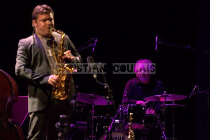Baptiste Herbin, André Ceccarelli; Baptiste Herbin Quartet feat André Ceccarelli, Festival JAZZ360 2014, Cénac. 07/06/2014