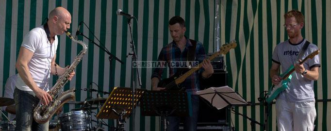 Festival JAZZ360 2014, Guillaume Schmidt, Benoît Lugué, Christophe Maroye; EBop Quartet, Cénac. 07/06/2014