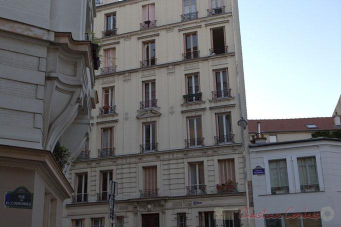 Rue des Couronnes / Rue du Transvaal, Paris 20ème