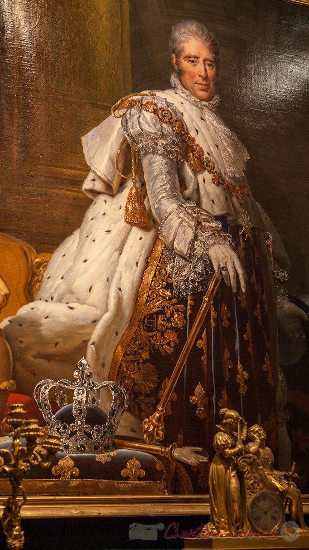 """""""Quel regard !"""", Charles X en costume de sacre, Baron François Gérard, Musée Carnavalet"""