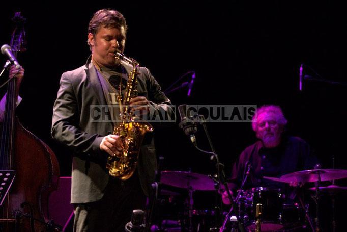 Bapriste Herbin, André Ceccarelli; Baptiste Herbin Quartet feat André Ceccarelli, Festival JAZZ360 2014, Cénac. 07/06/2014