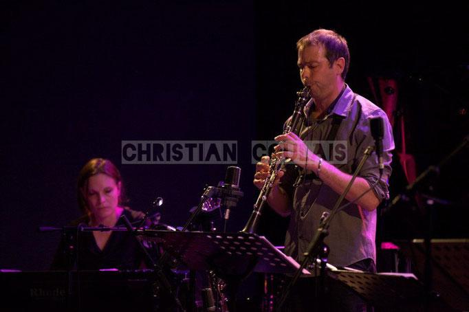 Festival JAZZ360 2014, Anne Quillier, Pierre Horckmans; Anne Quillier Sextet, Cénac. 07/06/2014