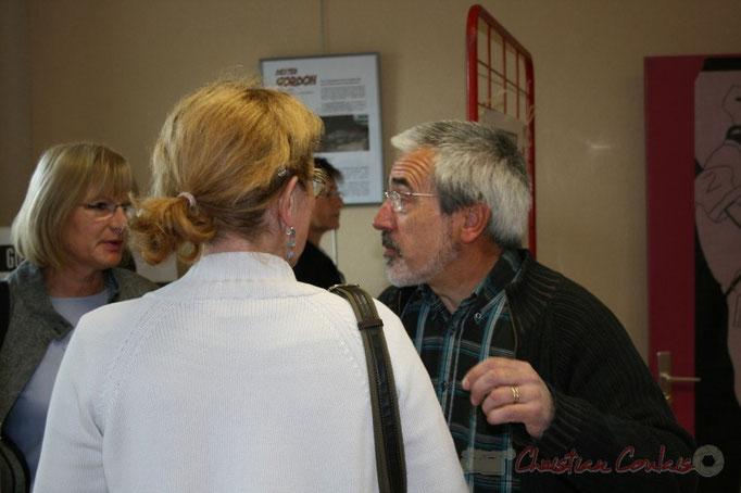 Jean-Luc Camiliéri, en charge des finances de la commune. Inauguration du Festival JAZZ360 2010, bibliothèque de Cénac. Vendredi 14 mai 2010
