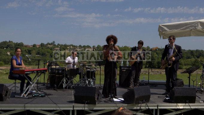 Valérie Chane-Tef, Franck Leymeregie, Mayomi Moreno, Benjamin Pellier, François-Marie Moreau; Akoda Quintet, Festival JAZZ360 2014, 08/06/2014