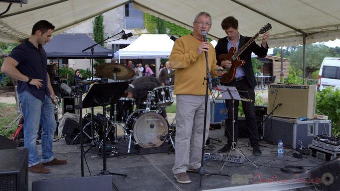 Festival JAZZ360 2015, Bernard Capdepuy, Conseiller municipal de Quinsac. Château Lestange, Quinsac. 14/06/2015